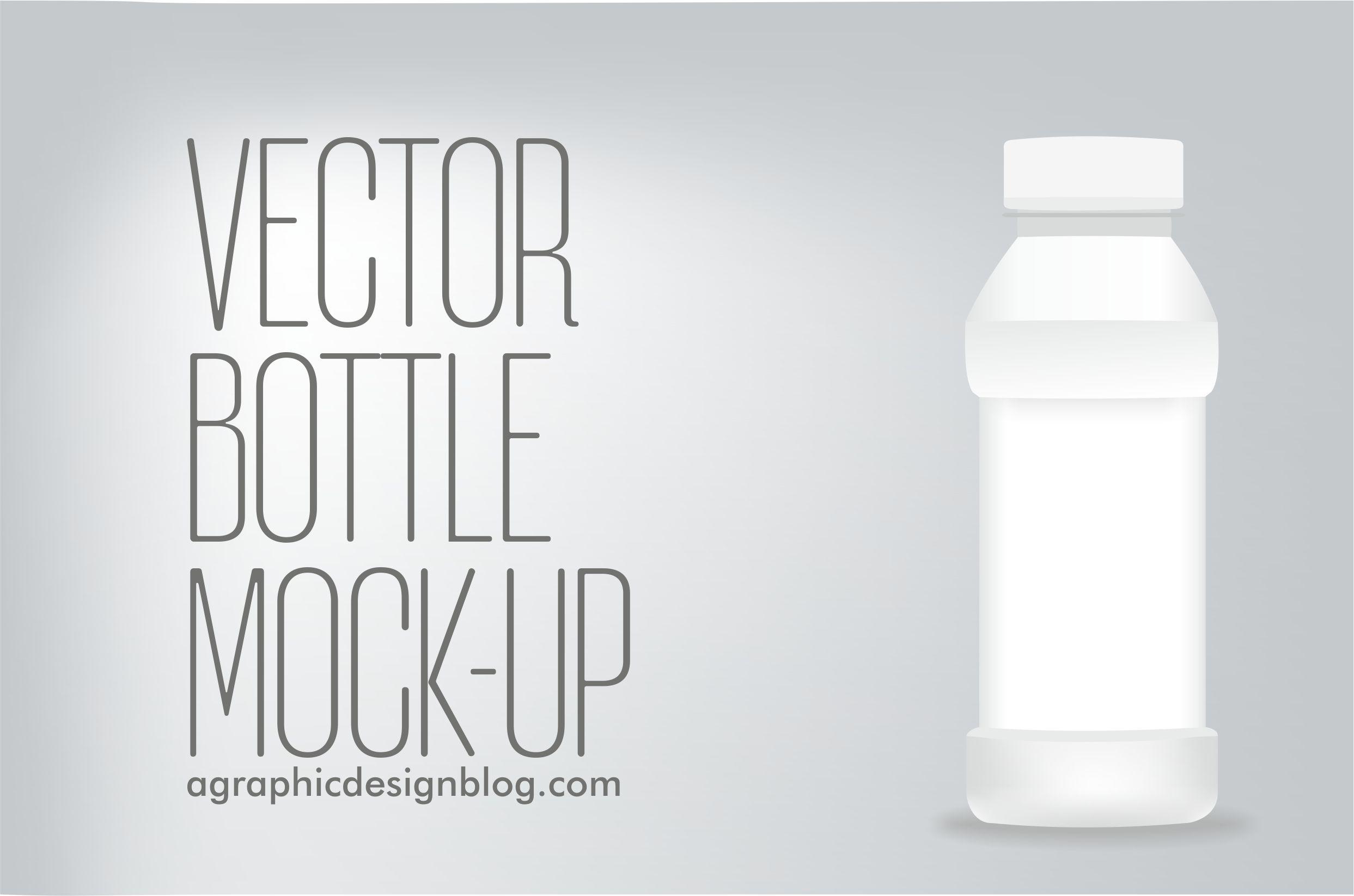 how to create vector bottle mock-ups