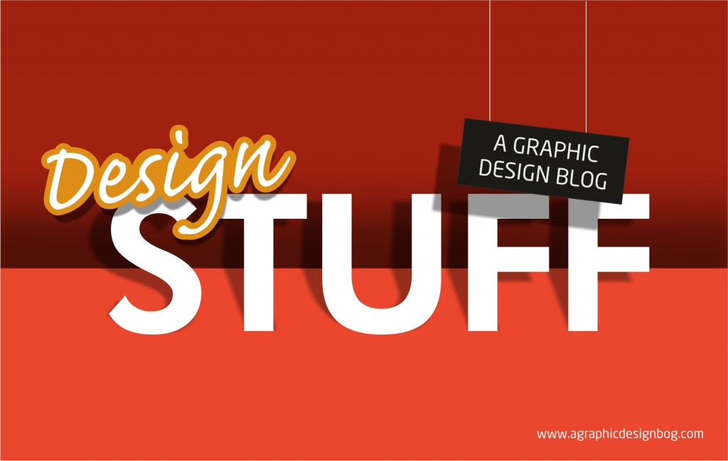 Typography design with shadows