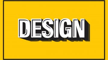 retro typography design