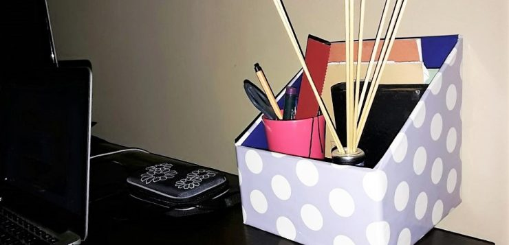 DIY table top organiser