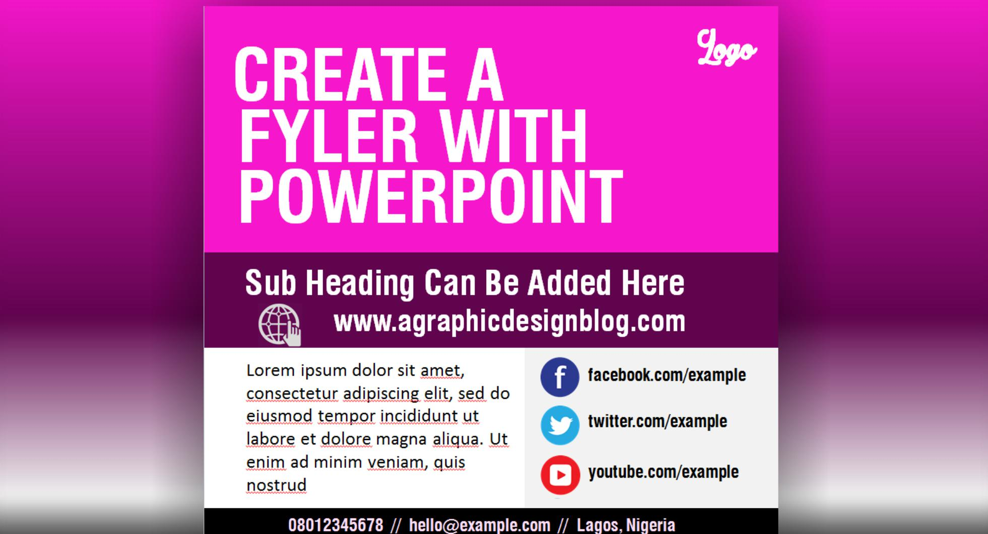 how to create a flyer with powerpoint