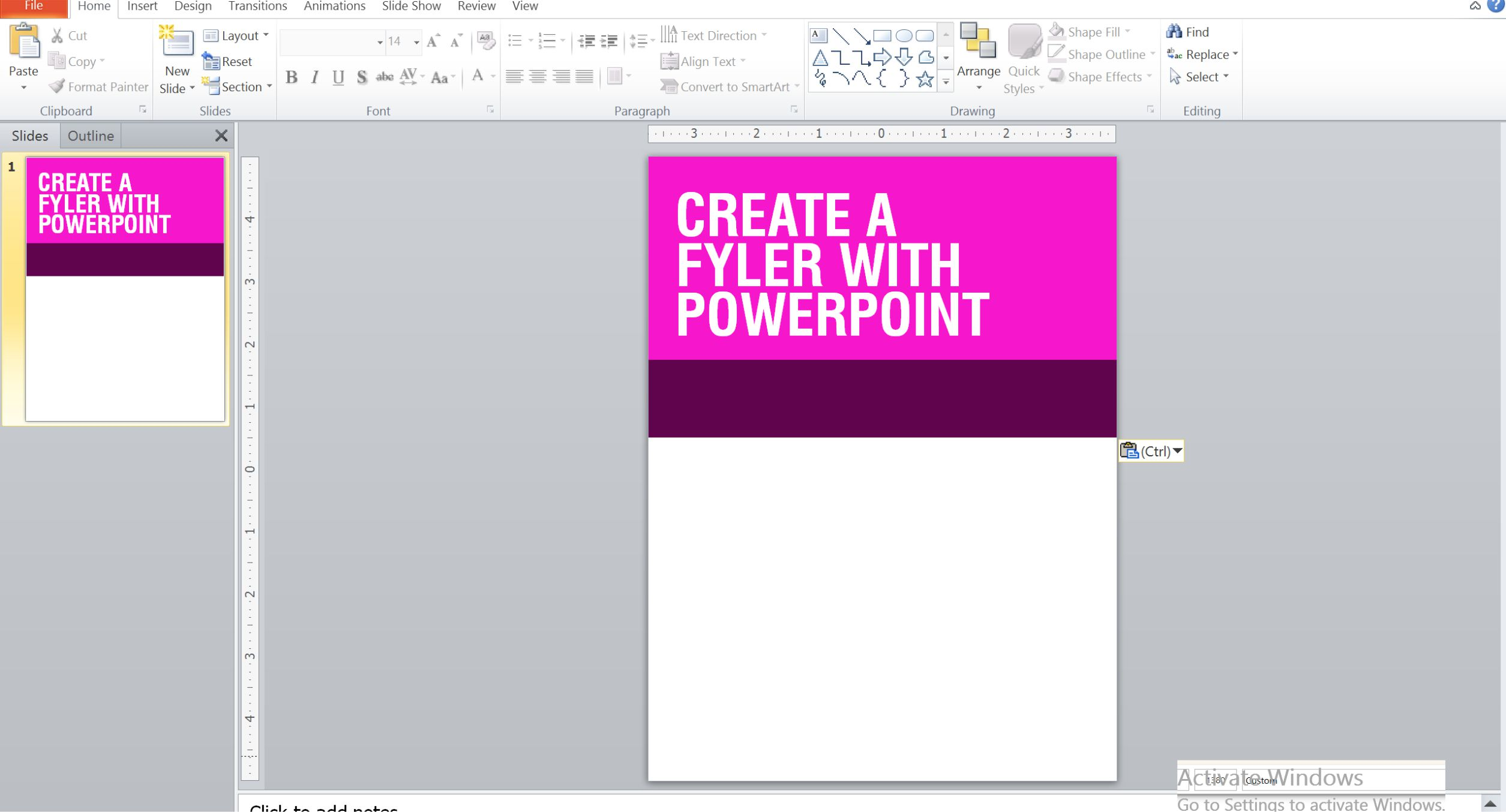 how to create a flyer with powerpoint a graphic design blog
