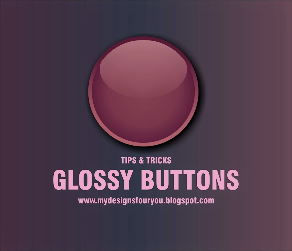create glossy button effect